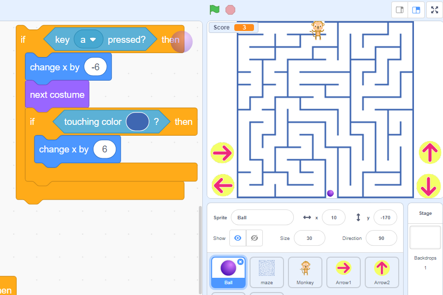 maze-game-ball-sprite-2-script-scratch3-robokids-burgas-kids-code-games