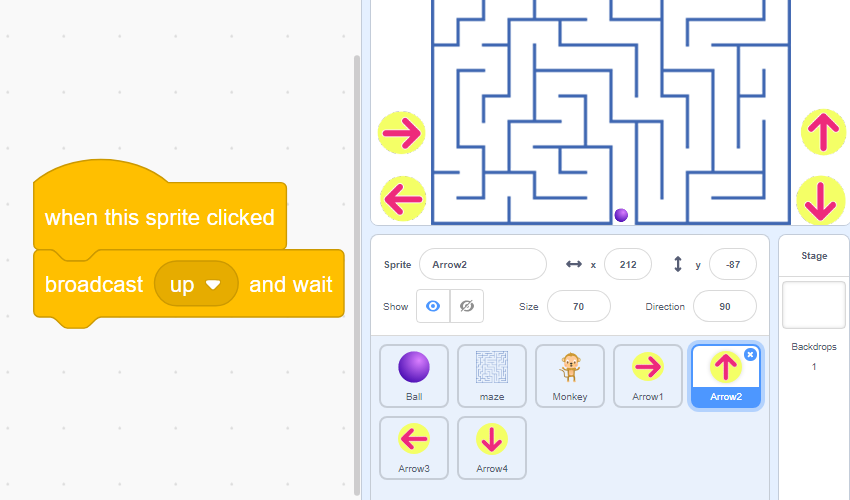 maze-game-tablet-arrows-script-scratch3-robokids-burgas-kids-code-games